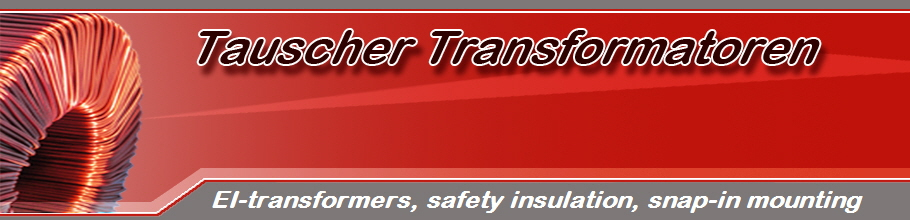 EI-transformers, safety insulation, snap-in mounting