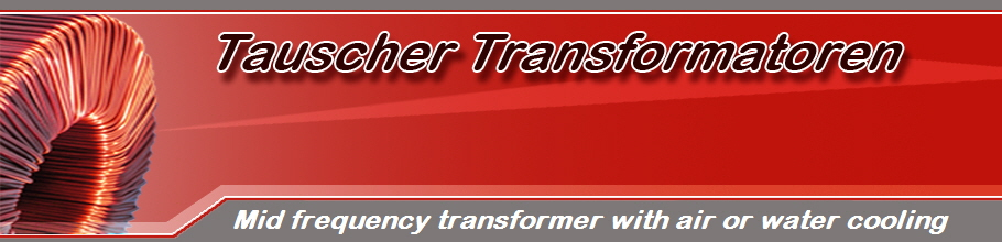 Mid frequency transformer with air or water cooling