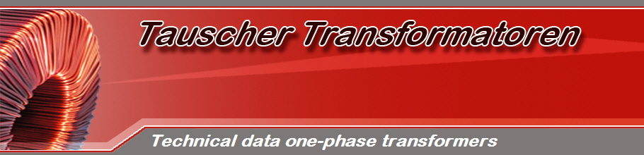 Technical data one-phase transformers
