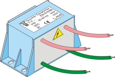 High potential isolating transformer