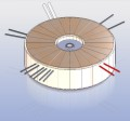 Toroidal transformer for low and high voltage supply