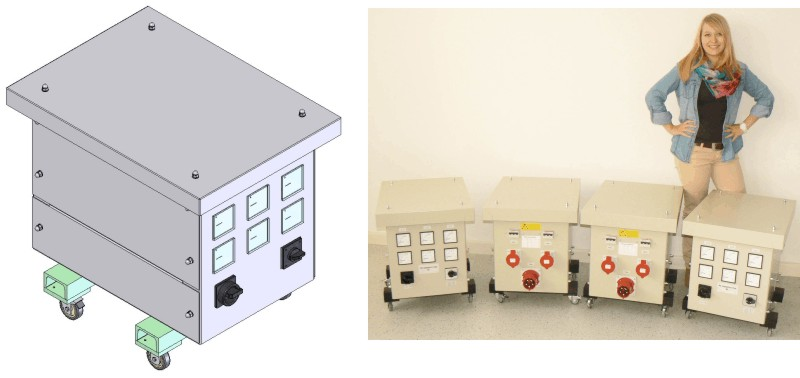 threephase voltage supply for world wide use